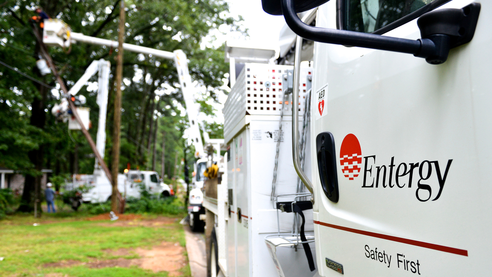 Entergy releases estimated times for restoring electricity