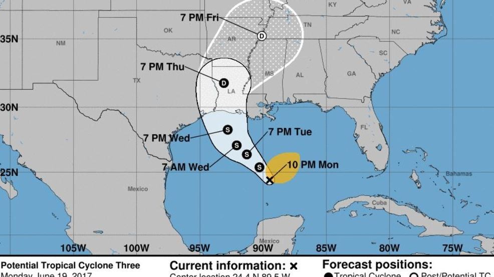 Map Of South East Texas.Tropical Storm Watch In Effect From Louisiana To Southeast Texas Kfdm